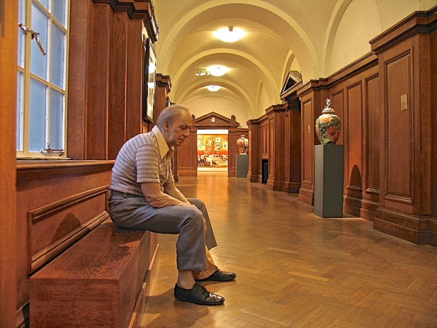 Museumgoers have been known to try to console Duane Hanson's 1977 'Man On A Bench,' his disconsolate, slouching, vinyl and polychromed body is so hyper-real