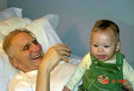 Sharing stories when spending long days in a nursing home is therapeutic, visits from young family members is even better