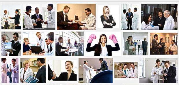 "Screen grab of ""Pharma Sales Reps"" Google Images search"