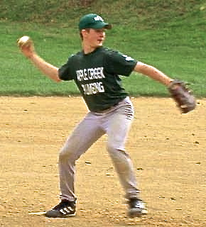 While most humans today don't need to throw well in order to survive, this evolutionary advantage serves us well in many sports; note this Little Leaguer's externally rotated right shoulder
